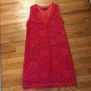 French Connection Deep Coral Crochet
